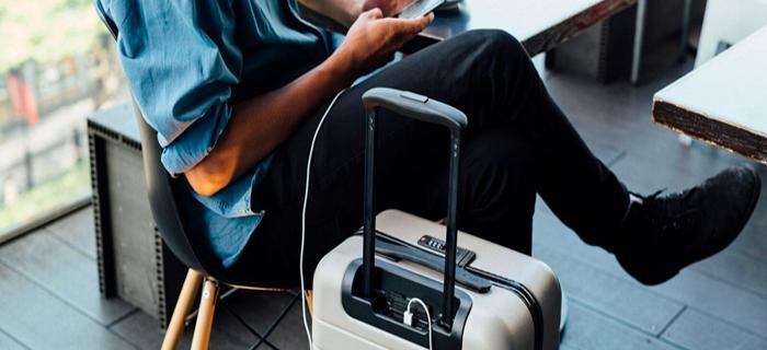 Chargeble luggage