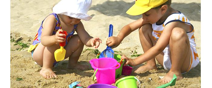 palas cubos de playa